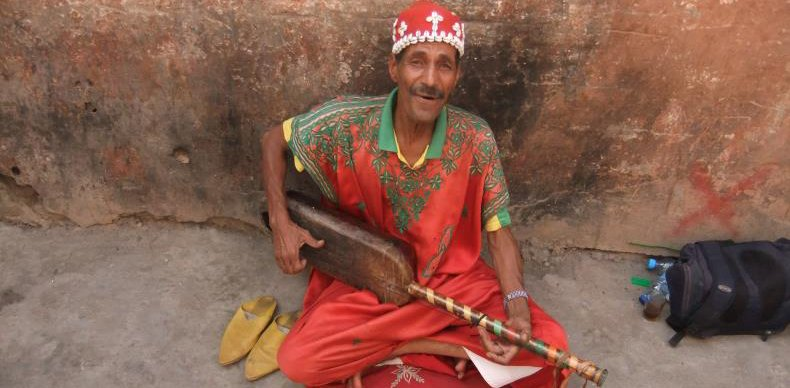 Omar the Gnawa musician Marrakech riad
